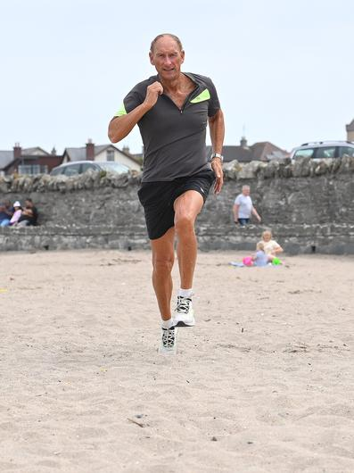 Mike Bull training on the beach near his home in Groomsport. Pic Stephen Hamilton